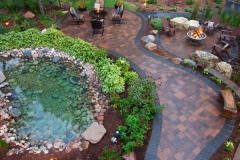 Paver Patio and Fire/Water Features: Backyard Escape
