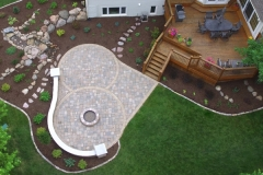 Paver Patio and Waterfall: Outdoor Oasis
