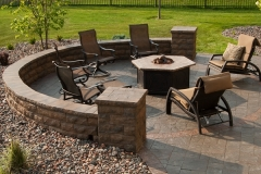 Fire Place and Paver Patio: Classic Fire Features