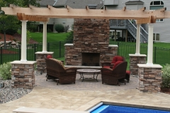 Fire Place and Pergola: Outdoor Comfort