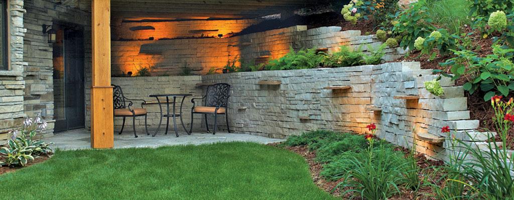 Retaining Wall Landscaping Decorative Functional Stone Brick